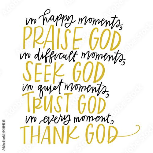Fotografie, Obraz  Moments with God