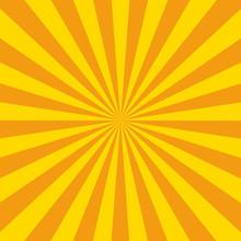 Sunburst Background Orange Col...