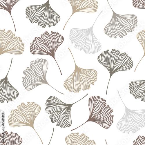 kwiatowy-wzor-z-lisci-ginkgo-ilustracji-wektorowych