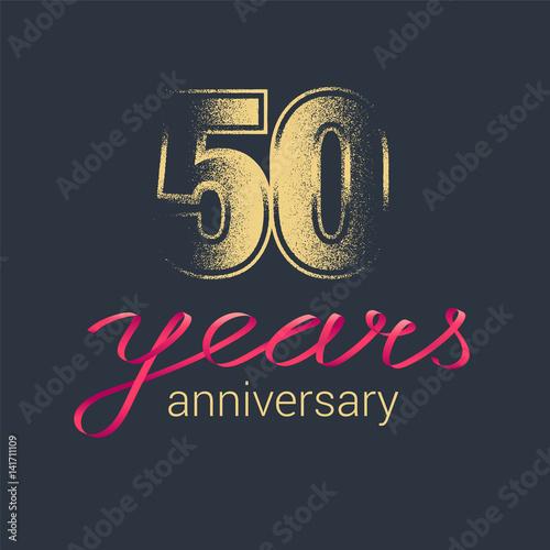 Fotografia  50 years anniversary vector icon, logo
