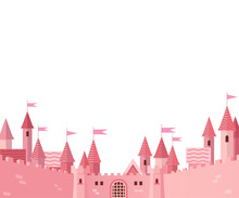 Frame With Pink Castle.