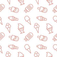 Icecream Seamless Pattern Background