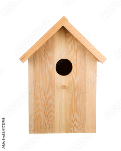 Birdhouse isolated. Frontal view Poster Mural XXL