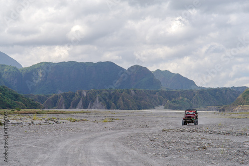 Canvas Prints Camping Four-wheel drive tour at Mountain Pinatubo , Philippines