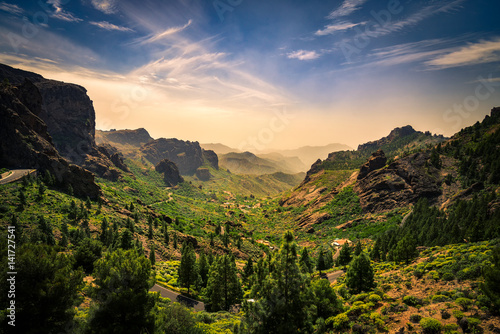 Mountainside landscape on Gran Canaria island, Spain