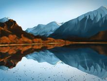 Wanaka, New Zealand - Digital Painting