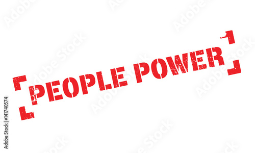 People Power rubber stamp Fototapet