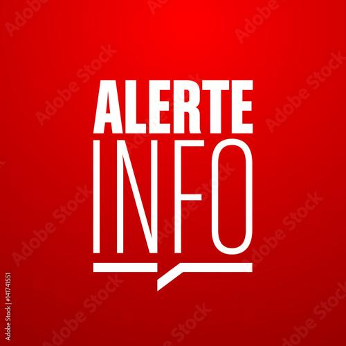 Photo alerte info