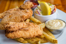 Fried Fish Dinner With Fries
