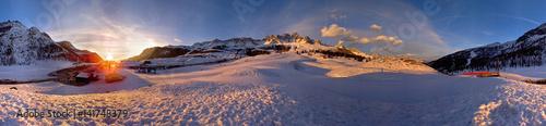 Fotografie, Obraz  Dolomiti, passo San Pellegrino a 360°