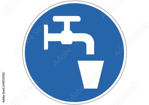 Fotografie, Obraz  Schild Trinkwasser