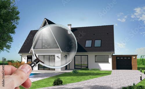 Présentation d\'une maison sur tablette avec zoom sur véranda ...