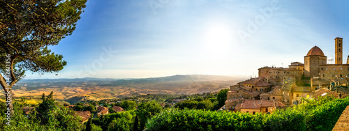 Photo sur Toile Toscane Volterra, Dorf in der Toskana