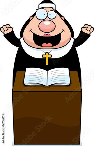 Fotografie, Obraz  Cartoon Nun Sermon