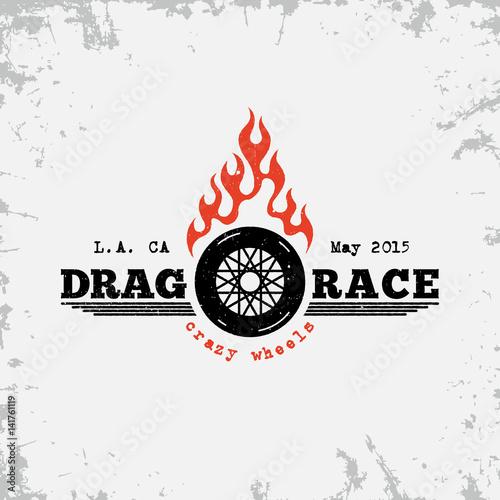 Drag race label Canvas Print