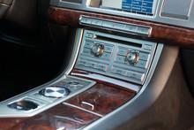 Vinnitsa, Ukraine - September 05, 2012.Jaguar XF Concept Car.Inside The Car,transmission,interior Of The Car, Logo Jaguar