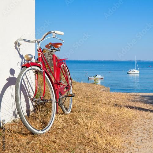 Deurstickers Strand Balade à vélo sur les côtes vendéennes