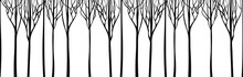 Background Stylized Trees. Vec...