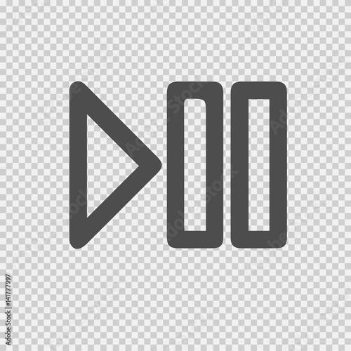 Fotografie, Obraz  Play pause vector icon