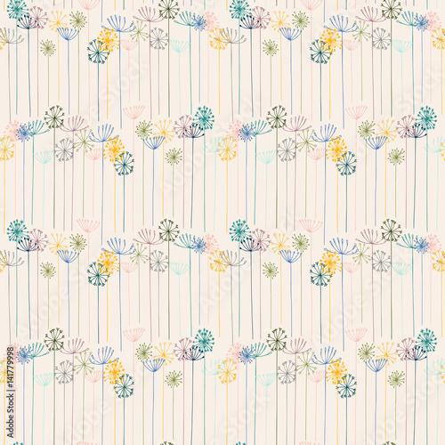wektor-kwiatowy-wzor-z-recznie-rysowane-stylizowane-kwiaty-koper-lub-koper-wloski-i-mniszek-lekarski-cienkie-linie-delikatne-sylwetki-w-pastelowych-kolorach-na-bialym