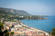 Cefalu town and sea view