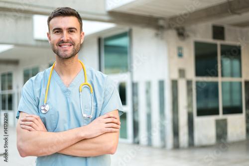 Fotografia  male nurse with stethoscope