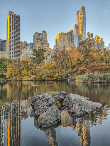 Central Park, New York City autumn Fototapete