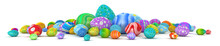 Pile Of Colorful Easter Eggs -...