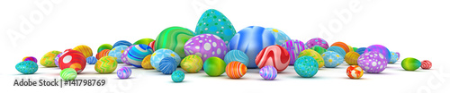 Photo Pile of colorful Easter eggs - 3d render