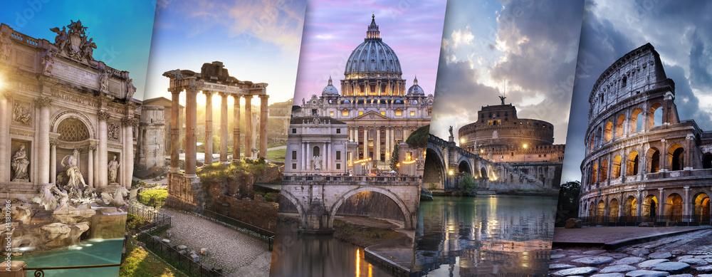 Fototapety, obrazy: Rome et Vatican Italie