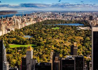 Fototapeta Nowy York Aerial view of New York Manhattan Central Park