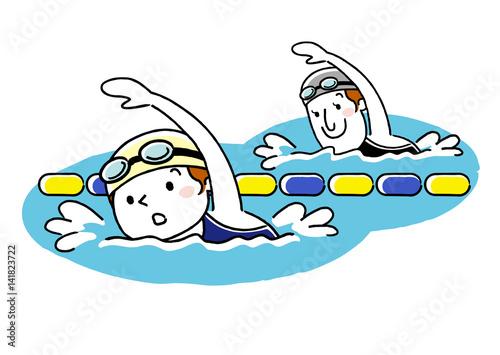 Fototapeta スポーツ:水泳