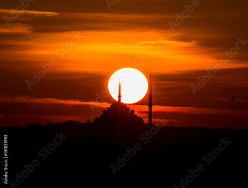 Poster  Sunset mosque