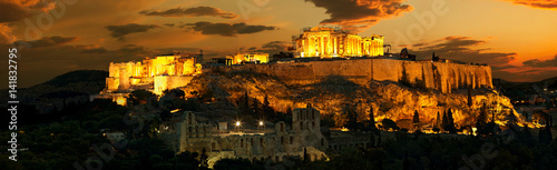Photo Stands Athens Acropolis before sunrise