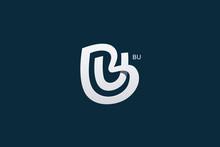 Letter B And U Monogram Logo Design Vector