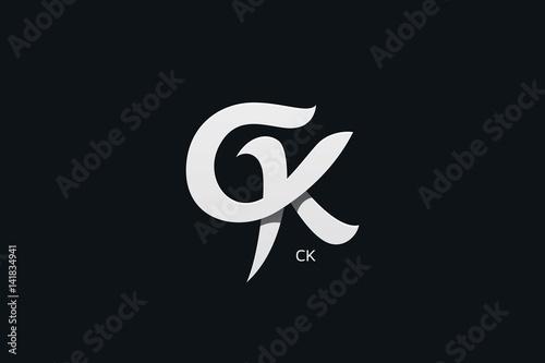 Letter C And K Or GK Monogram Logo Design Vector