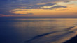 View of sea and cloudy sky at dawn ; Samila beach, Songkhla, southern of Thailand (slow shutter speeds)
