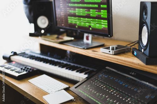 Bedroom Music Studio Desk