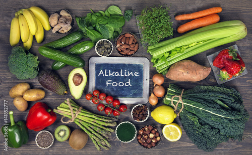 Alkaline foods Canvas Print