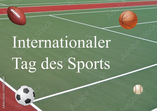 Fotografie, Obraz  Internationaler Tag des Sports