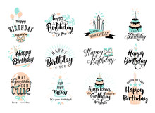 Vector Illustration Of Happy B...