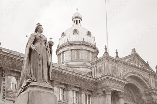 Carta da parati Council House and Queen Victoria Statue, Birmingham