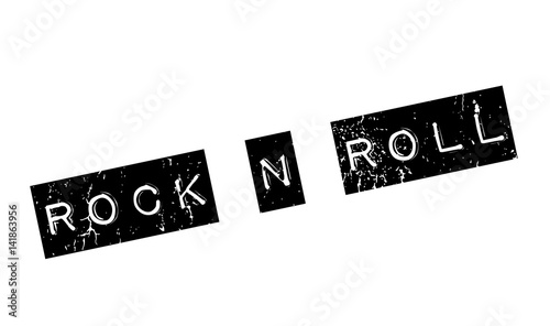Photo  Rock N Roll rubber stamp