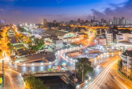Staande foto Kiev Bangkok Railway Station or Hua Lamphong Station is the main railway station in Thailand.
