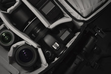 Camera DSLR In Bag For Work