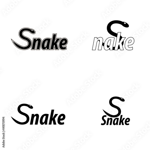 Photo  Set of logos with a snake