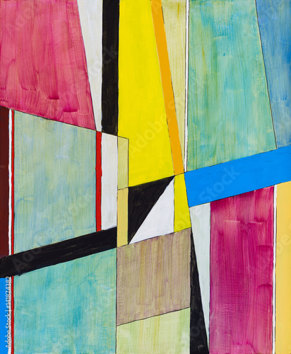 A painting; geometric abstraction Wall mural