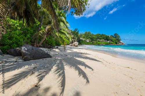 Fotografie, Obraz  Sunny day on Carana Beach, Seychelles