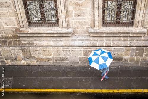 Fotografie, Obraz  Rainy Day Walk in Mexico