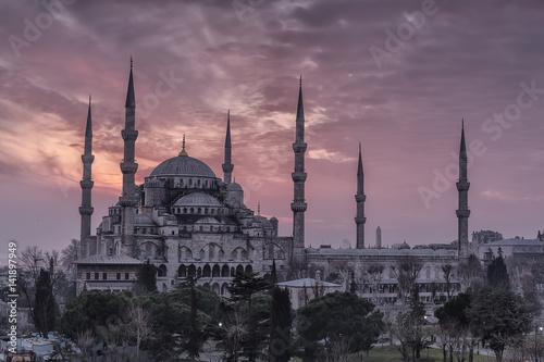Fototapeta Błękitny meczet - Sultanahmet meczet Istanbuł, Turcja
